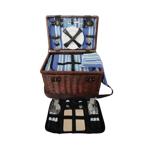 Sorrento 4 Person Wicker Picnic Basket