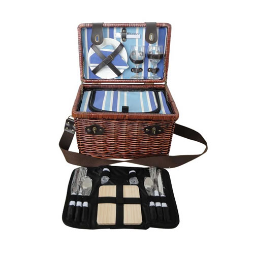 Sorrento 2 Person Wicker Picnic Basket
