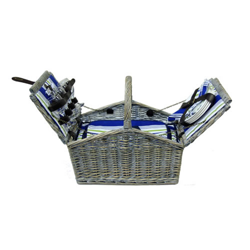 AEGEAN 4 Person Wicker Picnic Basket