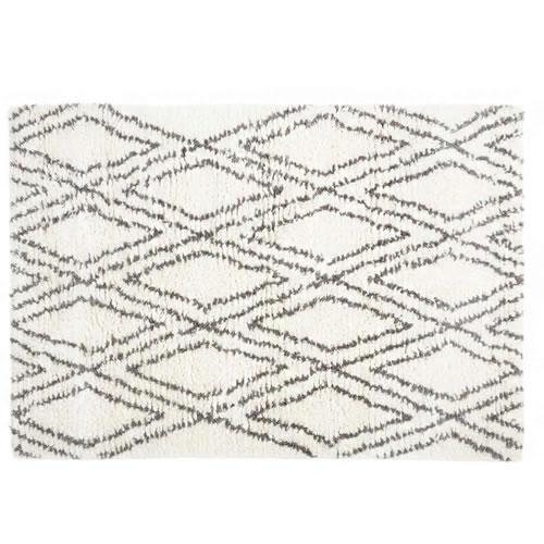 Baxter Grey and White Wool Rug 100x300cm