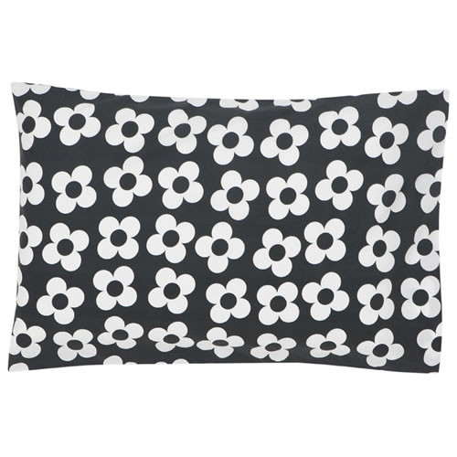 Big Charcoal Flower Pillowcase