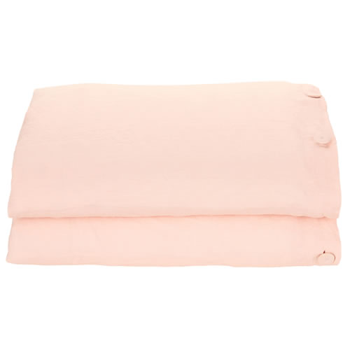 Blush Linen Queen Quilt Cover