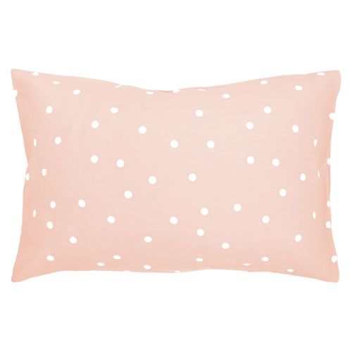 Blush Spot Linen Pillowcase