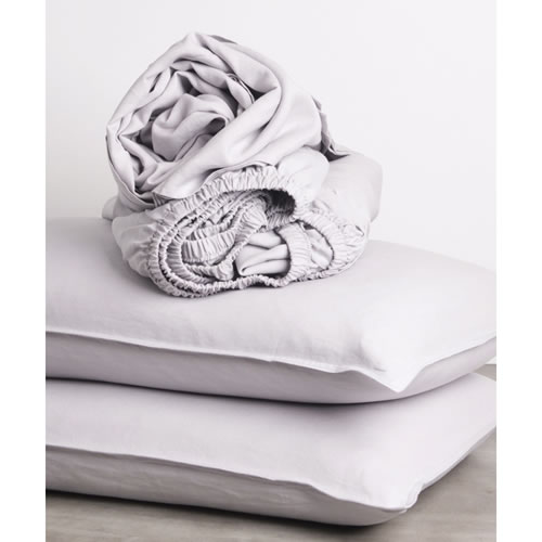 Cement Pure Linen Queen Sheet Set