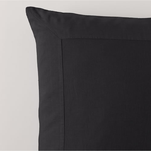 Charcoal Pure Linen European Pillowcase