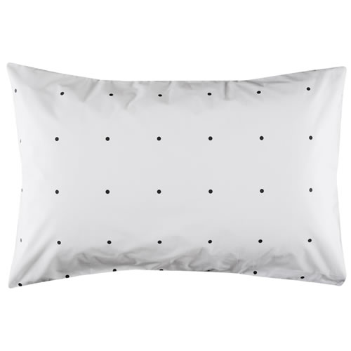 Charcoal Pegboard Pillowcase Single