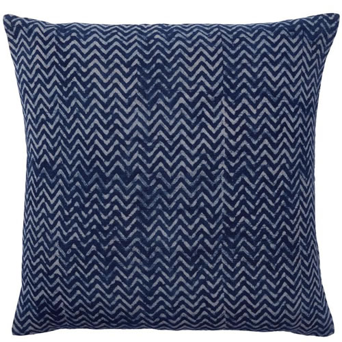 Dabu Chevron Indigo Cushion