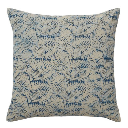 Dabu Foliage Indigo Cushion