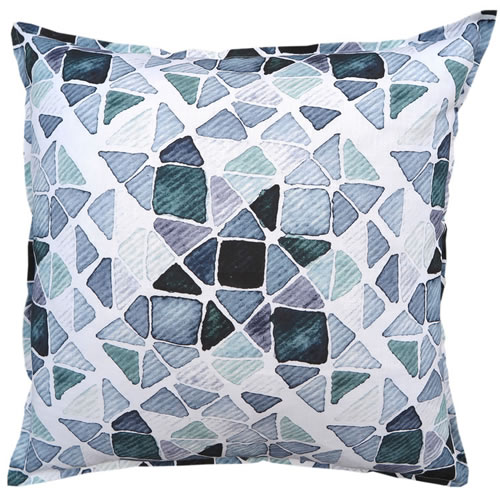 Emerald Patch Linen Cushion 60x60cm