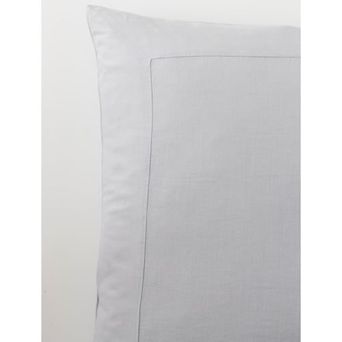 Cement Pure Linen Euro Pillowcase