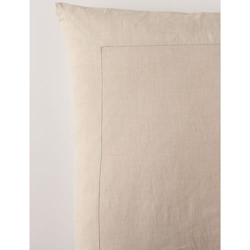 Natural Pure Linen Euro Pillowcase
