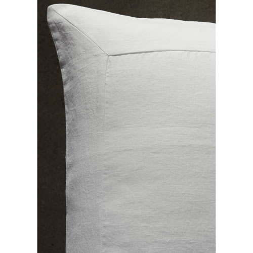 White Pure Linen Euro Pillowcase