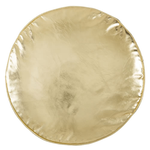 Gold Penny Round Cushion Cover