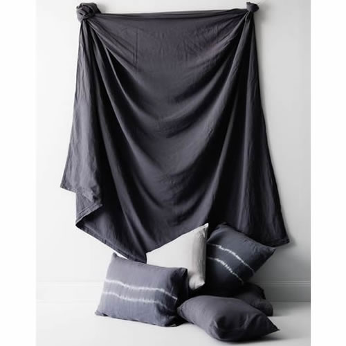 Graphite Pure Linen King Quilt Set