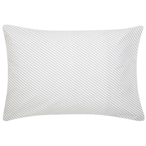 Grey Diagonal Stripe Pillowcase