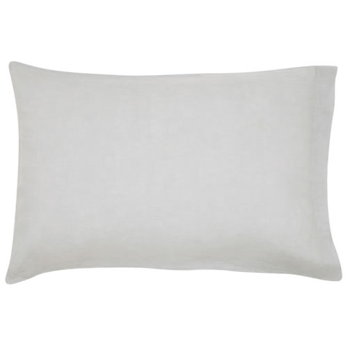 Grey Plain Linen Pillowcase