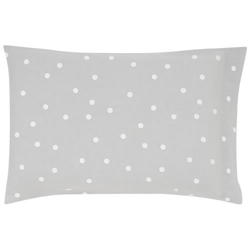 Grey Linen White Spot Pillowcase