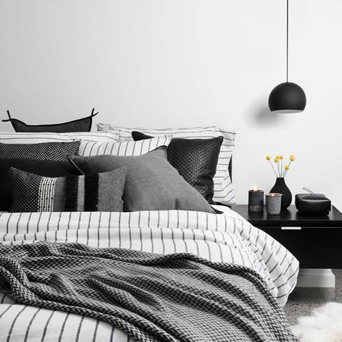 Loft Striped King Duvet Cover Set