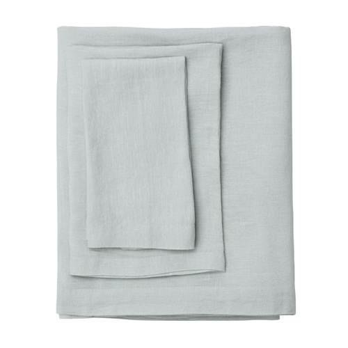 Moss Ash Linen Table Cloth Medium