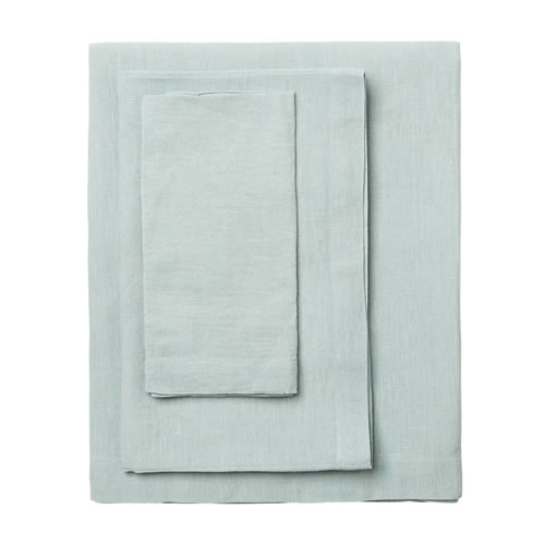 Moss Seafoam Round Table Cloth