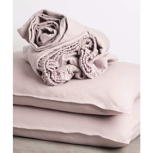 Musk Pure Linen Queen Sheet Set