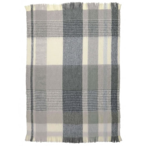 Mohair Throw Rug in Nordic
