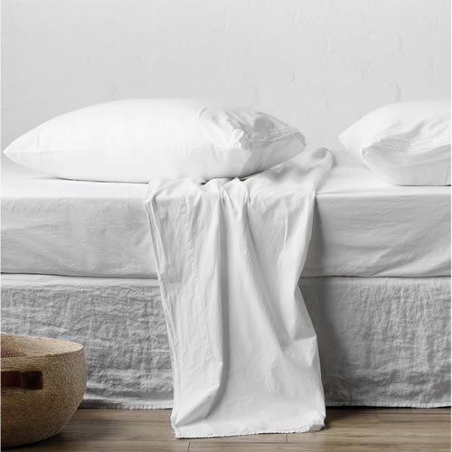 Nordic White King Sheet Set