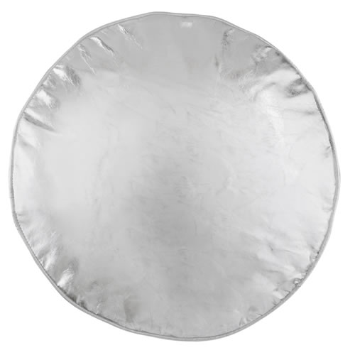 Silver Penny Round Cushion Cover