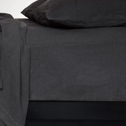 Bemboka Standard Pillowcase Pair in Coal