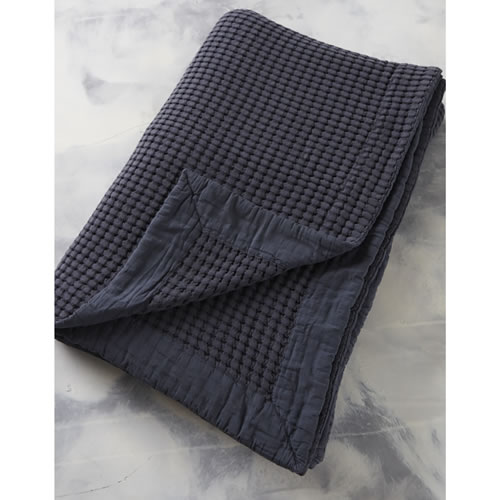 Textural King Bed Cover Charcoal