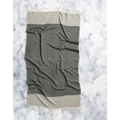Tribal Diamond Towel in Black