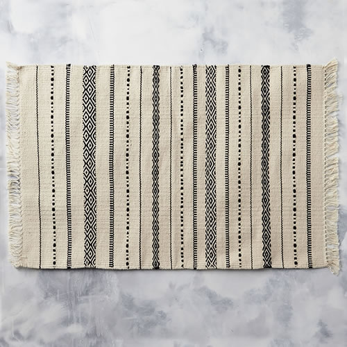 Tribal Bathmat in Natural