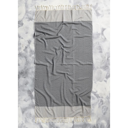 Tribal Pinecone Towel in Black
