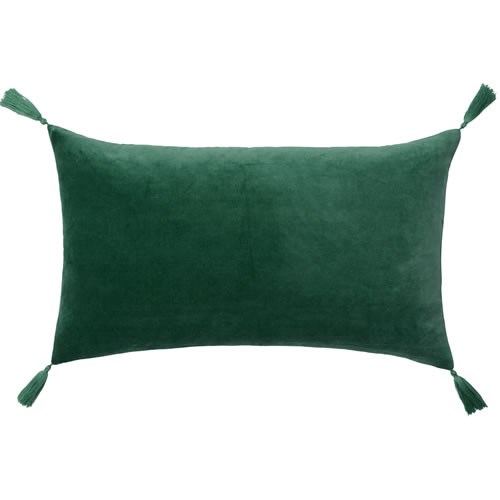 Velvet Petite Emerald Cushion