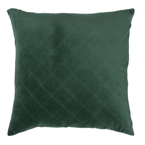 Velvet Quilted Cushion Emerald