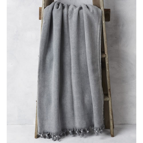 Vintage Wash Blanket Grey