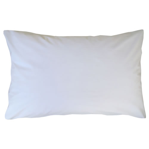 Plain White Pillowcase Single