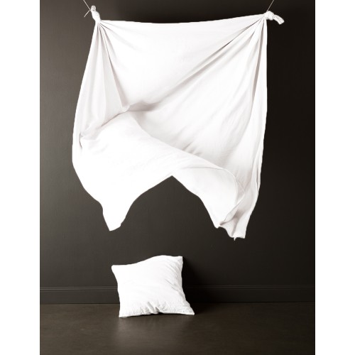 White Pure Linen Queen Quilt Set