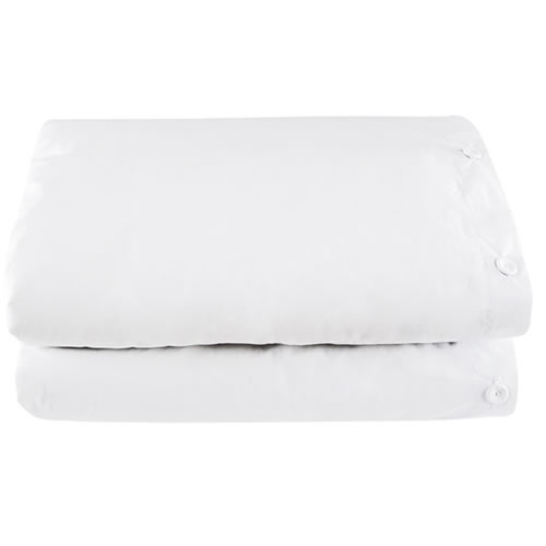 White Quilt Cover with White Buttons in Double
