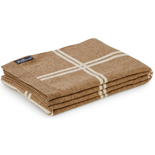Wool Knit Birch Throw Rug