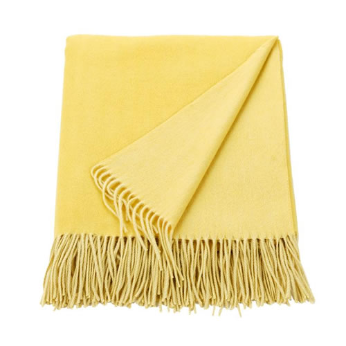 Cashmere Mix Throw Marigold Yellow